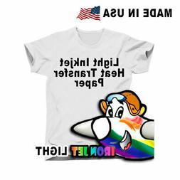 Heat Transfer Paper Light T-Shirt Inkjet-Printer Iron On Hea
