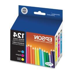 Epson - T124520  Moderate Capacity Ink, Cyan, Magenta, Yello