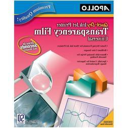 Transparency Premium Film for Inkjet Printers Universal Quic
