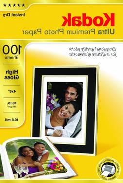 Kodak Ultra Premium Photo Paper, 4 x 6 Inches, High Gloss, 1