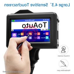 New Handheld Inkjet Printer 600DPI Ink Date Word QR Code Bar