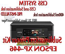 Epson XP-446 Sublimatio printer bundle,CISS Kit,sublimation