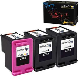 Cartlee 3 Remanufactured 63XL 63 XL High Yield Ink Cartridge